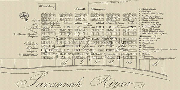 Old Savannah Map